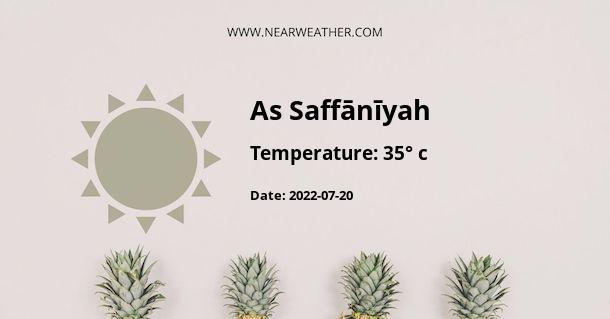 Weather in As Saffānīyah