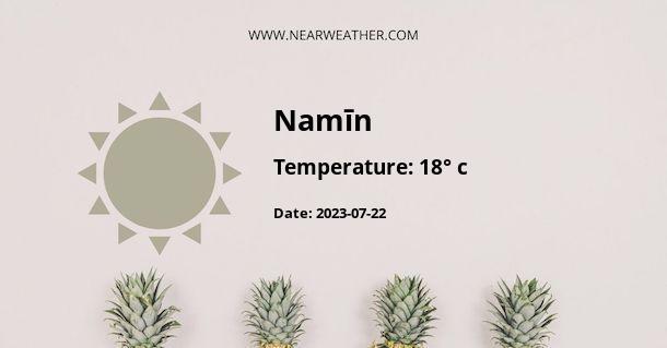 Weather in Namīn