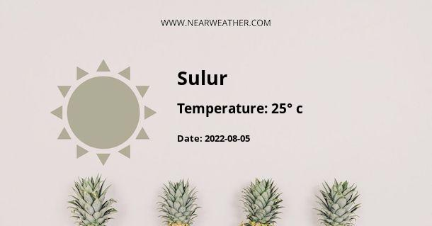 Weather in Sulur