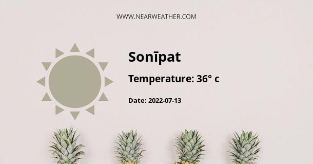 Weather in Sonīpat