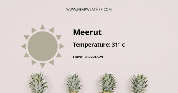 Weather in Meerut