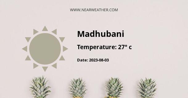 Weather in Madhubani
