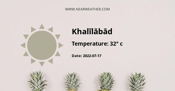 Weather in Khalīlābād