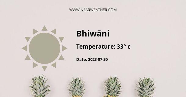 Weather in Bhiwāni