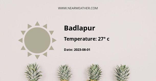 Weather in Badlapur