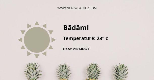 Weather in Bādāmi