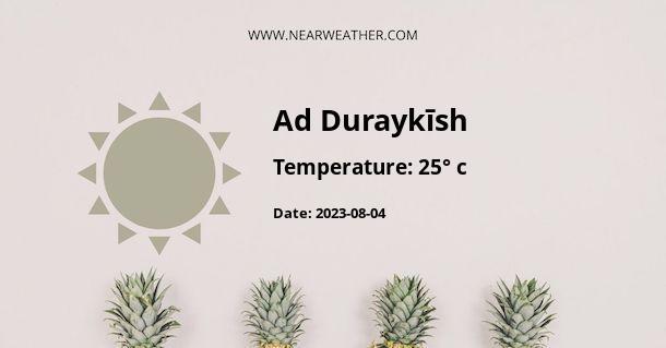 Weather in Ad Duraykīsh