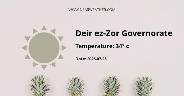 Weather in Deir ez-Zor Governorate