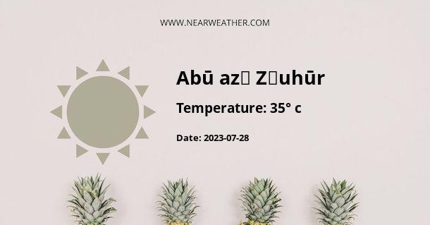 Weather in Abū az̧ Z̧uhūr