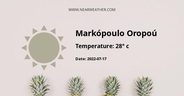 Weather in Markópoulo Oropoú