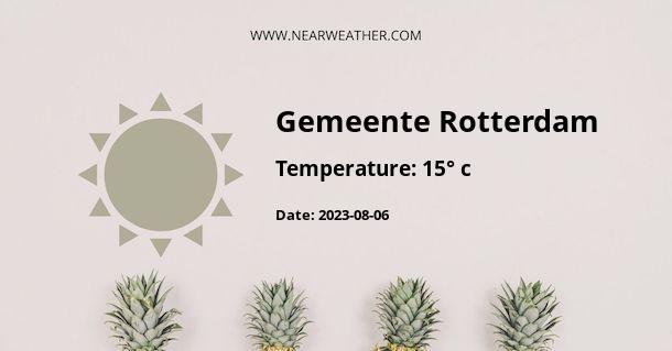 Weather in Gemeente Rotterdam