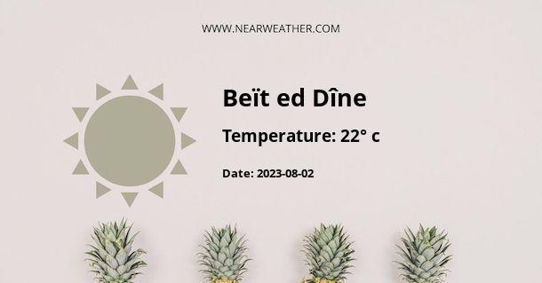 Weather in Beït ed Dîne