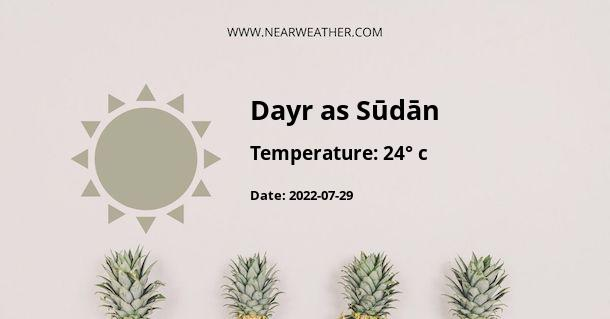 Weather in Dayr as Sūdān