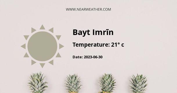Weather in Bayt Imrīn