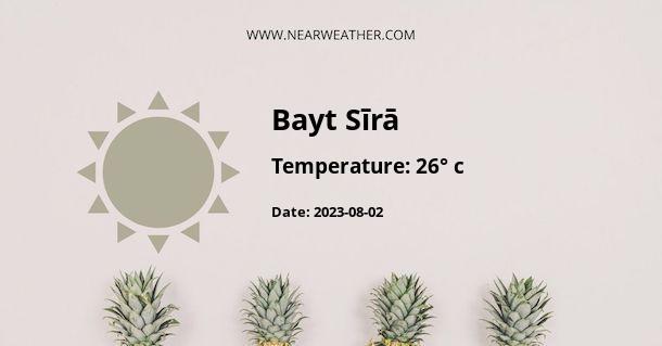 Weather in Bayt Sīrā