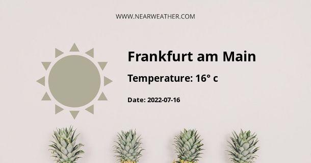 Weather in Frankfurt am Main