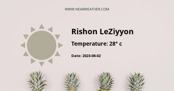 Weather in Rishon LeZiyyon