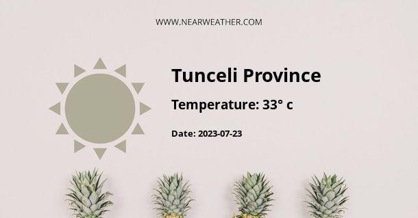 Weather in Tunceli Province