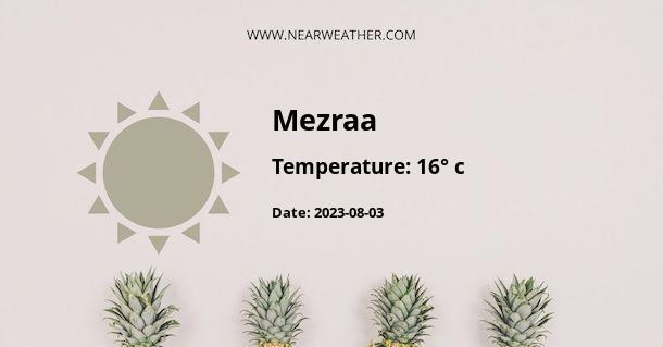 Weather in Mezraa