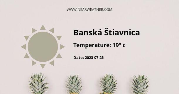 Weather in Banská Štiavnica