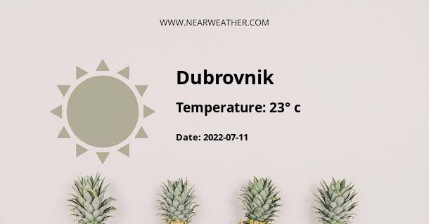 Weather in Dubrovnik