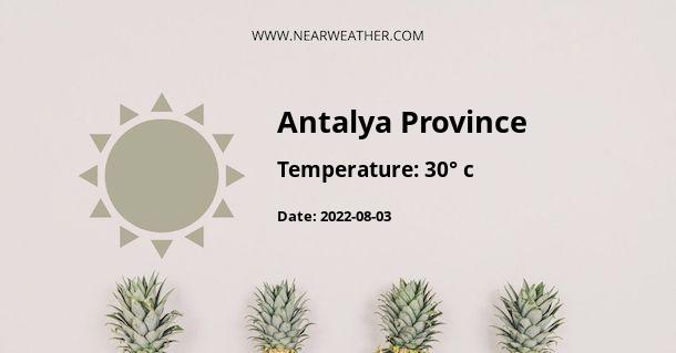 Weather in Antalya Province
