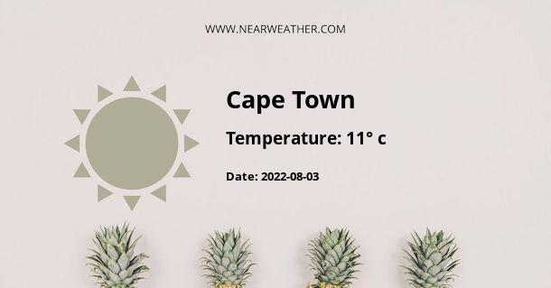 Weather in Cape Town