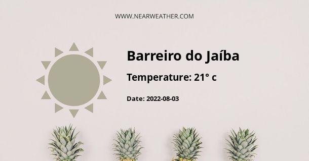 Weather in Barreiro do Jaíba