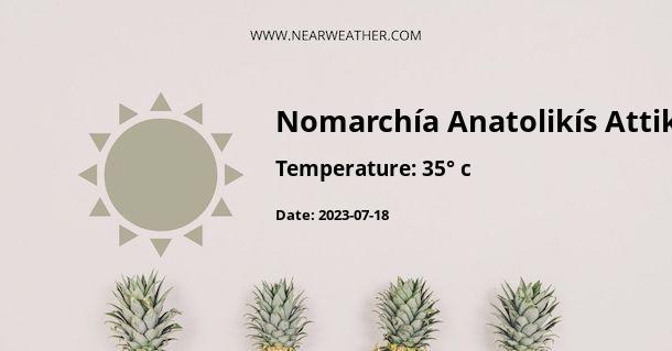 Weather in Nomarchía Anatolikís Attikís