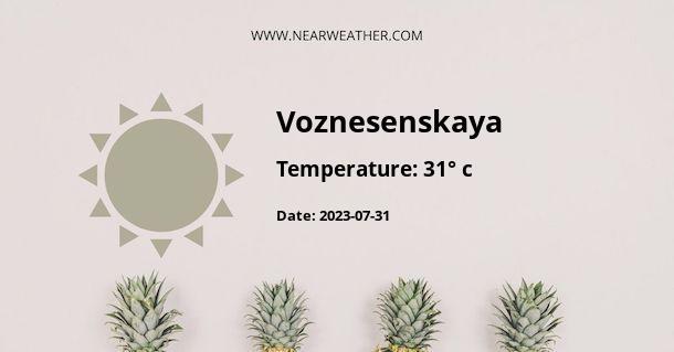 Weather in Voznesenskaya