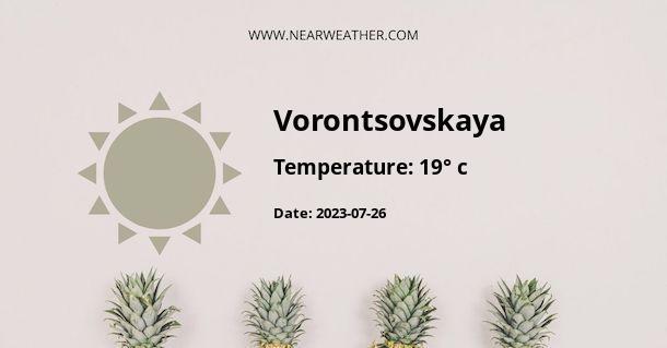 Weather in Vorontsovskaya