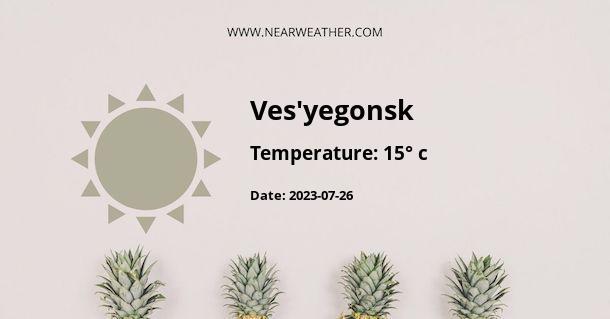 Weather in Ves'yegonsk