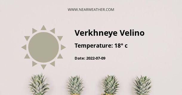 Weather in Verkhneye Velino
