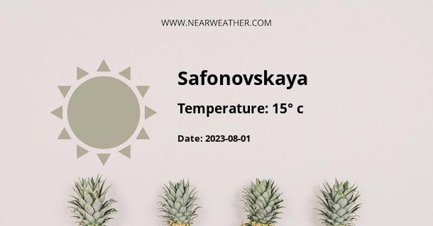 Weather in Safonovskaya
