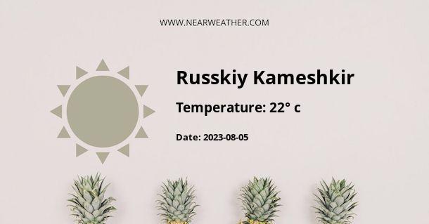 Weather in Russkiy Kameshkir