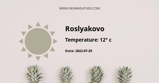 Weather in Roslyakovo