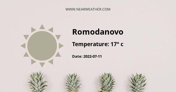 Weather in Romodanovo
