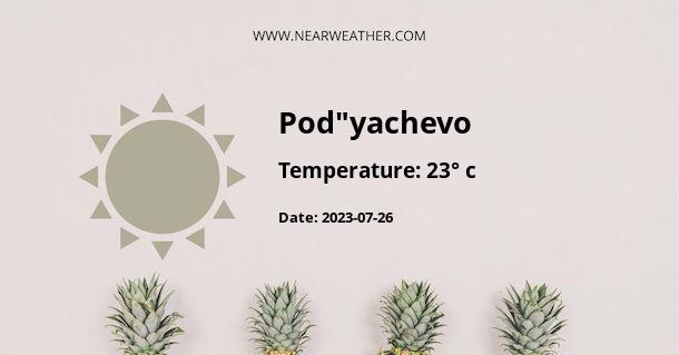 """Weather in Pod""""yachevo"""