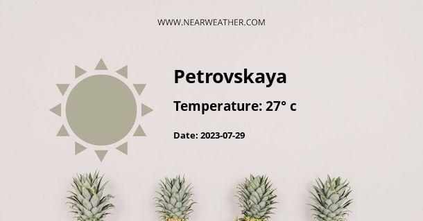 Weather in Petrovskaya
