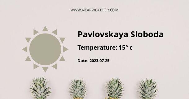 Weather in Pavlovskaya Sloboda