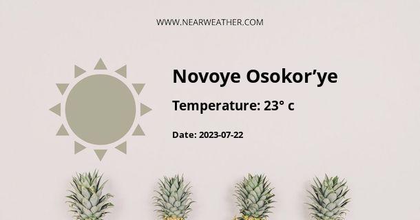 Weather in Novoye Osokor'ye