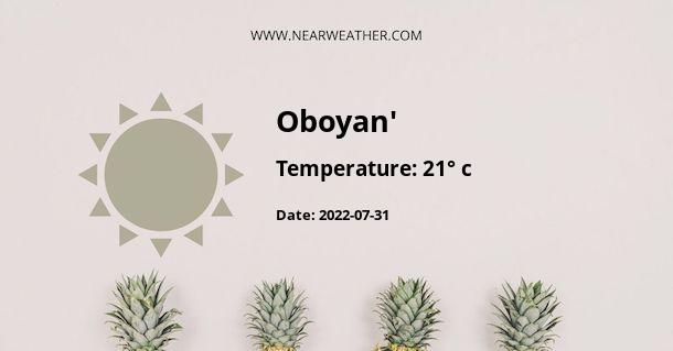 Weather in Oboyan'
