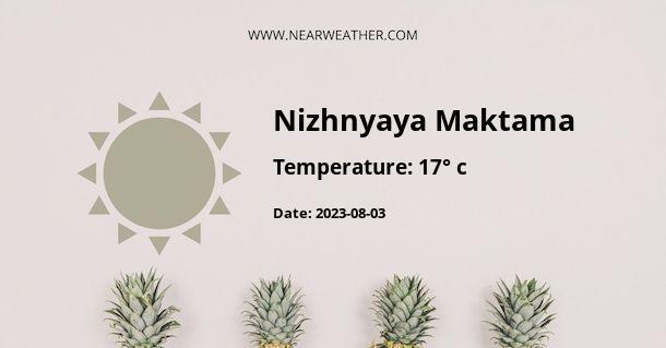 Weather in Nizhnyaya Maktama