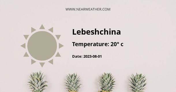 Weather in Lebeshchina