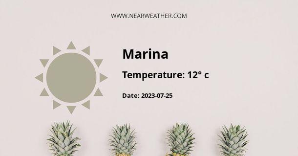 Weather in Marina