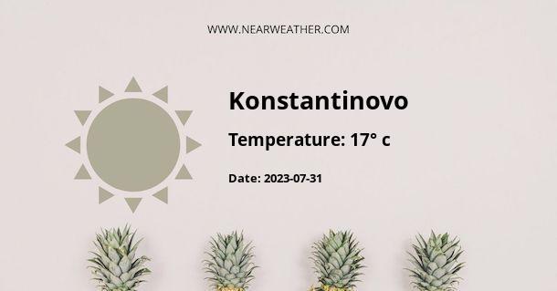 Weather in Konstantinovo