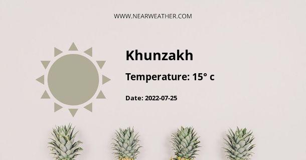Weather in Khunzakh
