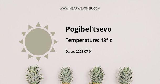 Weather in Pogibel'tsevo