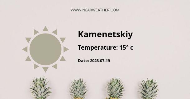 Weather in Kamenetskiy