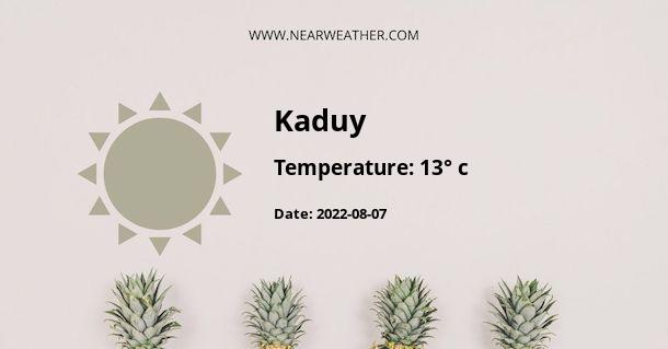 Weather in Kaduy